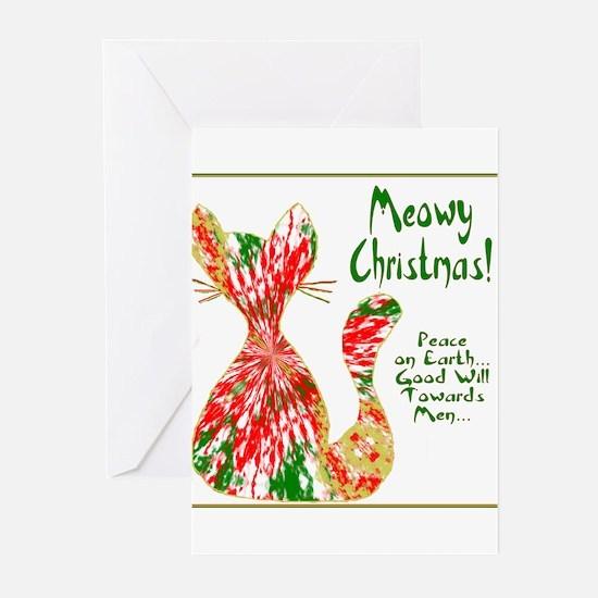 Meowy Christmas Greeting Cards (Pk of 10)