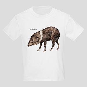 Collared Peccary Animal Kids Light T-Shirt