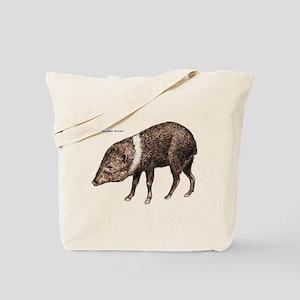 Collared Peccary Animal Tote Bag