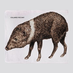 Collared Peccary Animal Throw Blanket