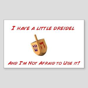 Chanukah Dreidel Rectangle Sticker