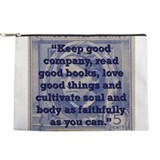 Louisa may alcott zippered pouch Makeup Bags