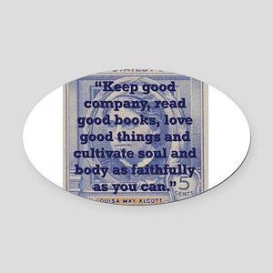 Keep Good Company - Alcott Oval Car Magnet