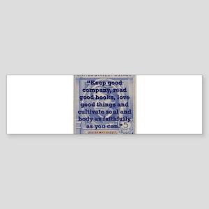 Keep Good Company - Alcott Sticker (Bumper)