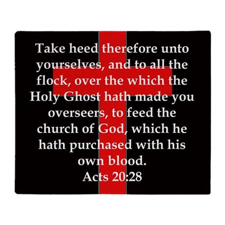 Acts 20-28 Throw Blanket