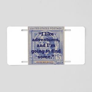 I Like Adventures - Alcott Aluminum License Plate