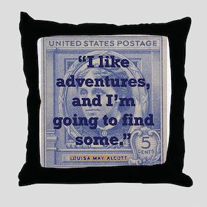I Like Adventures - Alcott Throw Pillow
