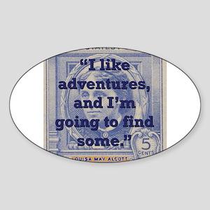 I Like Adventures - Alcott Sticker (Oval)