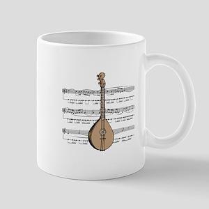 Mandolin and Sheet Music Design Mug