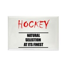 Natural Selection Hockey Rectangle Magnet
