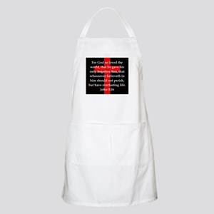 John 3-16 Light Apron