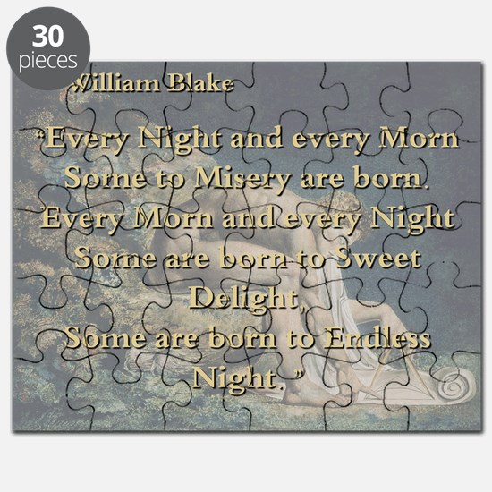 Every Night And Every Morn - W Blake Puzzle