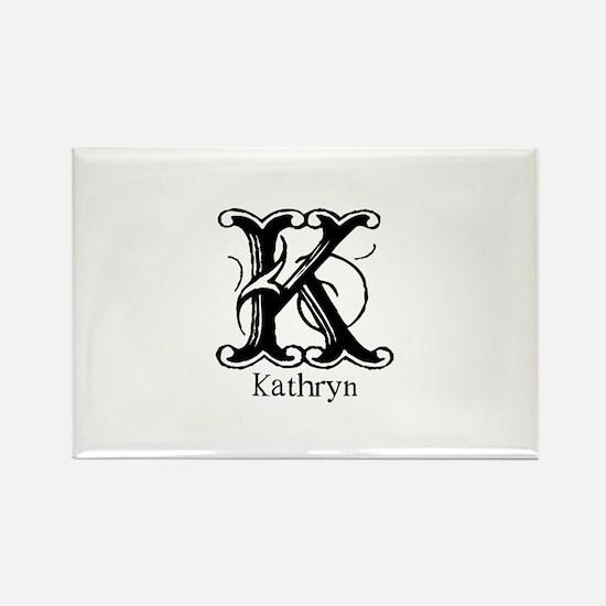 Kathryn: Fancy Monogram Rectangle Magnet