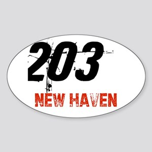 203 Oval Sticker