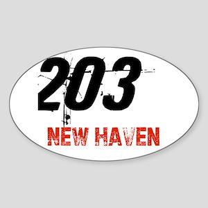 203 Oval Sticker
