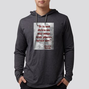 It Is Not Down On Any Map - Melville Mens Hooded S