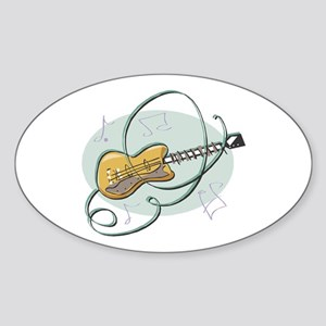 Electric Guitar Oval Sticker
