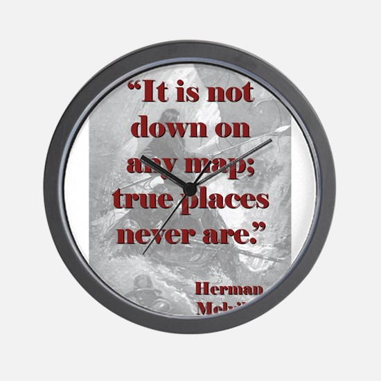 It Is Not Down On Any Map - Melville Wall Clock