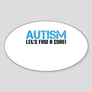 Autism Lets Find A Cure! Sticker (Oval)