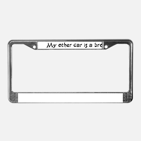 My other car License Plate Frame