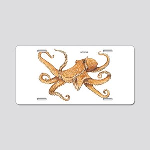 Octopus Animal Aluminum License Plate