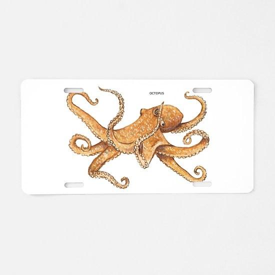 Octopus Animal Aluminum License Plate