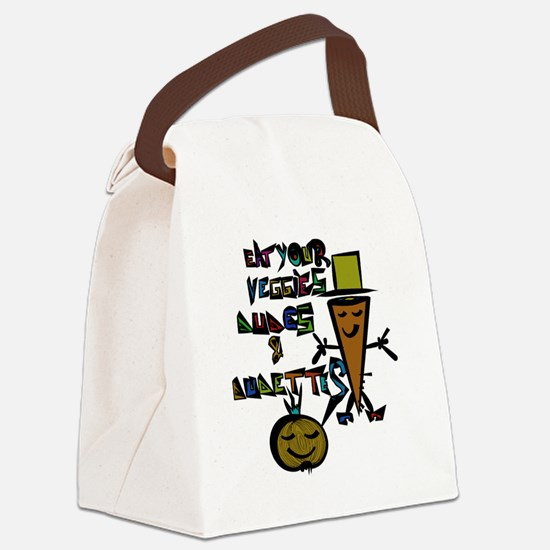 Funny Vegetarian shopping Canvas Lunch Bag