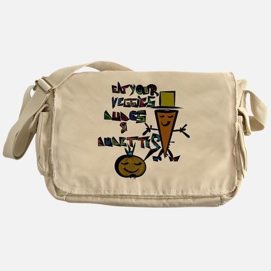 Vegetarian shopping Messenger Bag