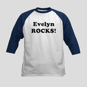 Evelyn Rocks! Kids Baseball Jersey