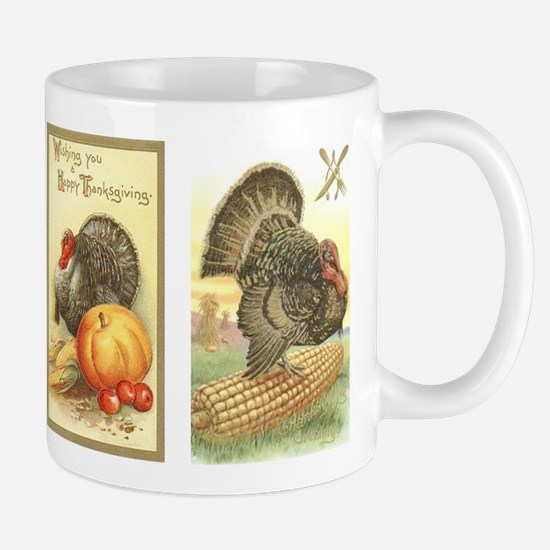 Vintage Thanksgiving Turkeys Mug