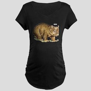 Wombat Animal Maternity Dark T-Shirt