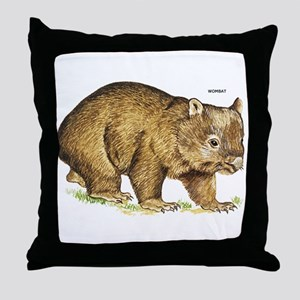 Wombat Animal Throw Pillow