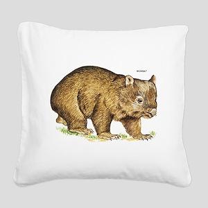 Wombat Animal Square Canvas Pillow
