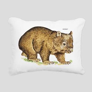 Wombat Animal Rectangular Canvas Pillow