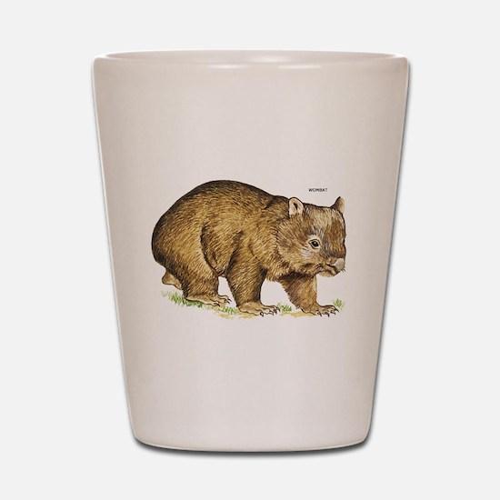 Wombat Animal Shot Glass