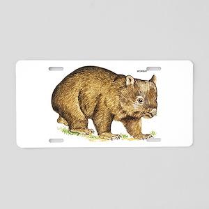 Wombat Animal Aluminum License Plate