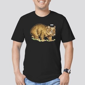 Wombat Animal Men's Fitted T-Shirt (dark)