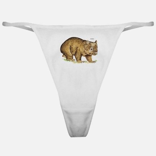 Wombat Animal Classic Thong