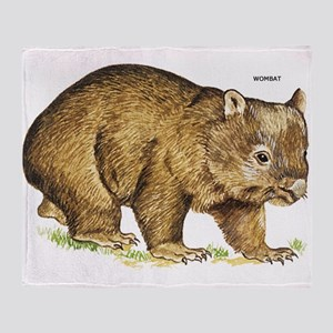 Wombat Animal Throw Blanket