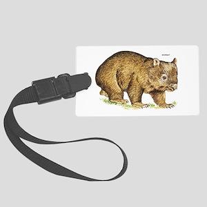 Wombat Animal Large Luggage Tag