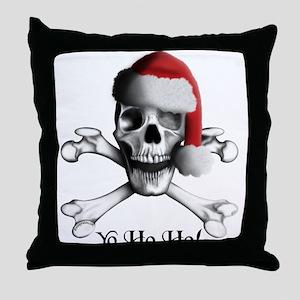 Christmas Pirate Throw Pillow