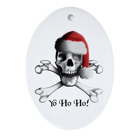 Christmas Pirate Oval Ornament
