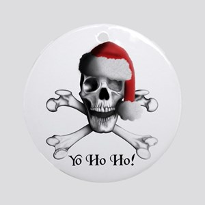 Christmas Pirate Ornament (Round)