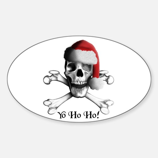 Christmas Pirate Oval Decal