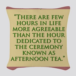 There Are Few Hours In Life - H James Woven Throw