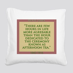 There Are Few Hours In Life - H James Square Canva