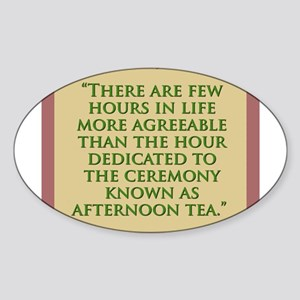 There Are Few Hours In Life - H James Sticker (Ova