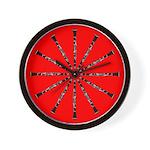 Clarinet Red Wall Clock