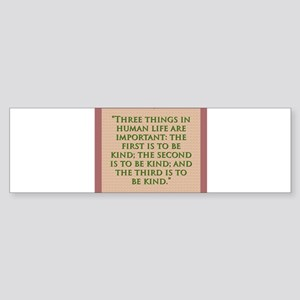 Three Things In Human Life - H James Sticker (Bump