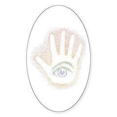 Rainbow Petro EyeHand Oval Decal